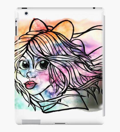 Rainbow Ribbon Little girl iPad Case/Skin