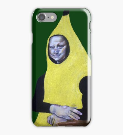 Mona Lisa Goes Bananas iPhone Case/Skin