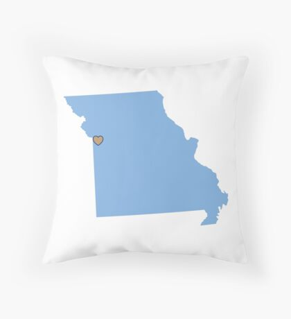 Home Sweet Kansas City, MO Throw Pillow