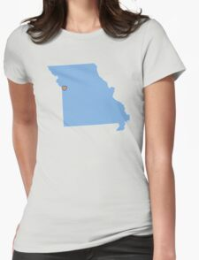 Home Sweet Kansas City, MO Womens Fitted T-Shirt