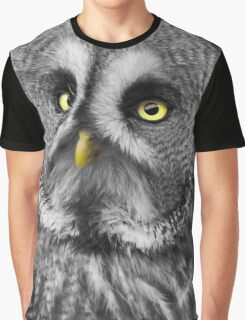Aspen, Great Grey Owl Graphic T-Shirt
