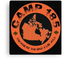 Camp 185 Canada Map Tee Canvas Print