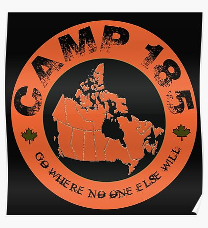 Camp 185 Canada Map Tee Poster