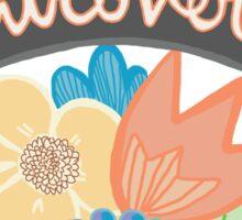 Introvert Hermit Single Shy Floral Tumblr Feminist Girly Print Sticker