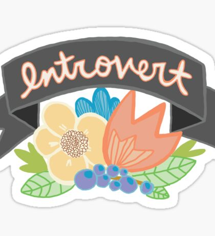 Introvert Hermit Single Shy Floral Tumblr Feminist Girly Print Sticker