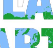 Flat earth, mother earth Sticker