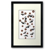 PIGS AND COPS Framed Print