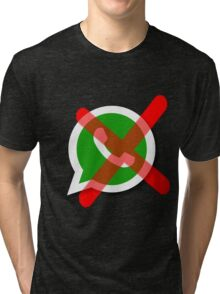 NO WhatsApp Messages Tri-blend T-Shirt