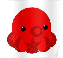 My Little Red Octopus Poster