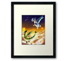 Flygon and Latios Framed Print