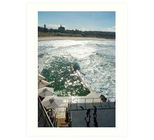 Bondi Beach icebergs Boxercise  Art Print