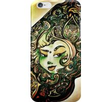 green and gold girl iPhone Case/Skin