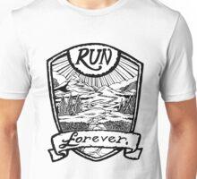 Run Forever - Black and white  Unisex T-Shirt