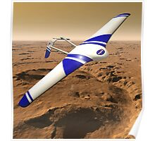 NASA ARES Drone Flying Over Mars Poster