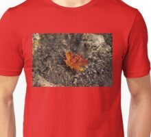 Submerged Beauty - Sunny Ripples on a Maple Leaf Unisex T-Shirt