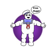 """Free Hugs From The Marshmallow Man"" Photographic Print"