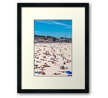 Bondi Beach sun worshippers Framed Print
