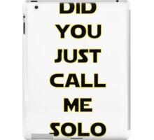 Solo? iPad Case/Skin