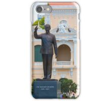 Statue of Ho Chi Minh at City Hall Saigon iPhone Case/Skin