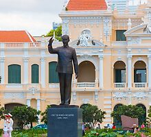 Statue of Ho Chi Minh at City Hall Saigon by Martin Berry Photography