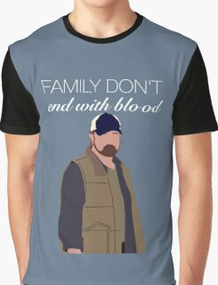 Bobby Singer Family Don't End With Blood Graphic T-Shirt