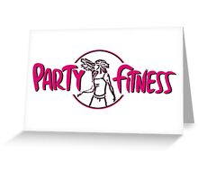 PARTY FITNESS WITH ZUMBA  Greeting Card