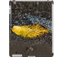 Submerged Beauty - Sunny Ripples on a Multicolored Cherry Leaf iPad Case/Skin