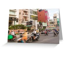 Rush Hour Saigon Vietnam Greeting Card