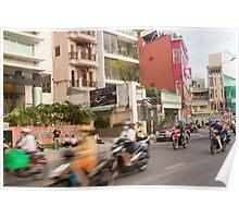 Rush Hour Saigon Vietnam Poster