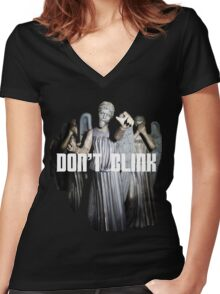 Don't Blink Women's Fitted V-Neck T-Shirt