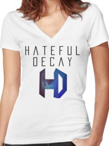 Hateful Decay Women's Fitted V-Neck T-Shirt