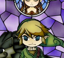 Twilight Princess Stained Glass, Purple Version Sticker