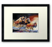010316 Ancient Buffalo Hunt Framed Print