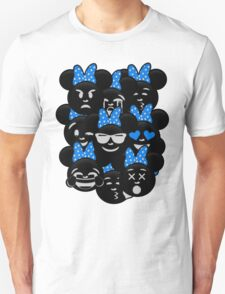 Minnie Emoji's Assortment - Blue T-Shirt