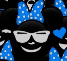Minnie Emoji's Assortment - Blue Sticker
