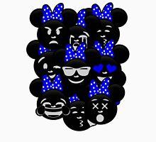 Minnie Emoji's Assortment - Navy Womens Fitted T-Shirt