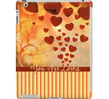 You Are Loved Glossy Candy Red Orange Hearts iPad Case/Skin