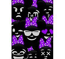 Minnie Emoji's Assortment - Purple Photographic Print