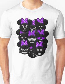Minnie Emoji's Assortment - Purple T-Shirt