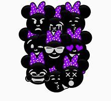 Minnie Emoji's Assortment - Purple Womens Fitted T-Shirt
