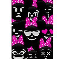 Minnie Emoji's Assortment - Pink Photographic Print