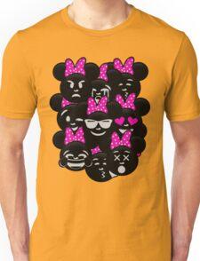 Minnie Emoji's Assortment - Pink Unisex T-Shirt