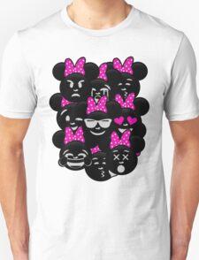 Minnie Emoji's Assortment - Pink T-Shirt
