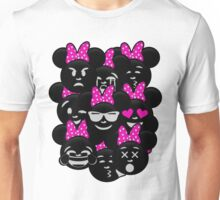 Minnie Emoji's Assortment - Pink Unisex T-Shirt