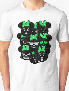 Minnie Emoji's Assortment - Green T-Shirt