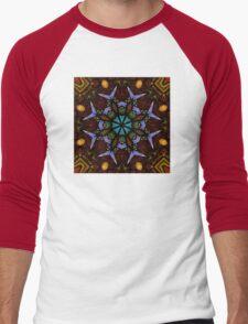 The Wheel of Life - Mandala Men's Baseball ¾ T-Shirt