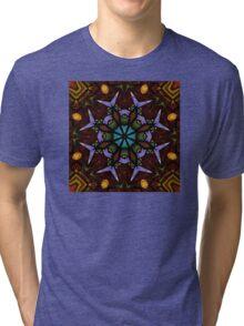 The Wheel of Life - Mandala Tri-blend T-Shirt