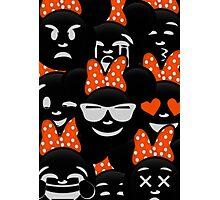 Minnie Emoji's Assortment - Orange Photographic Print