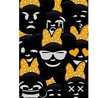 Minnie Emoji's Assortment - Yellow Photographic Print