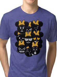 Minnie Emoji's Assortment - Yellow Tri-blend T-Shirt